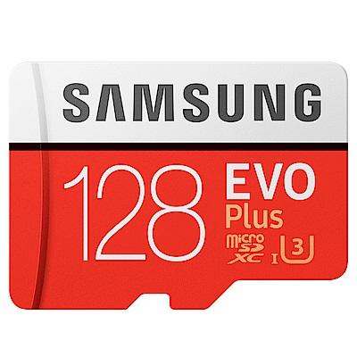 SAMSUNG三星 128GB EVO Plus microSDXC 記憶卡-平輸