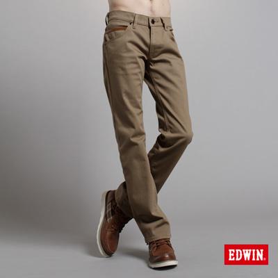 EDWIN-強烈氛圍-EDGE-W-F中直筒保溫褲-男款-褐色