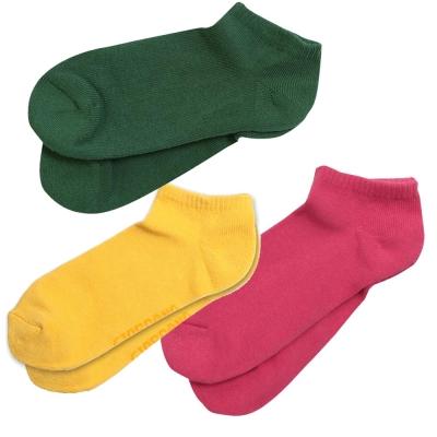 限時搶購-繽紛立體毛巾布底防滑船襪