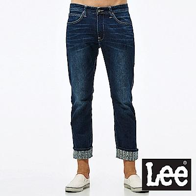 Lee 牛仔褲 726中腰標準小直筒牛仔褲-男款-中深藍