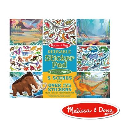 美國瑪莉莎 Melissa & Doug 靜電貼紙收藏簿 - 恐龍世紀