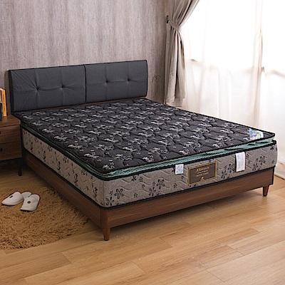 柏宜斯 舒柔記憶棉正三線硬式雙人加大6尺彈簧床墊