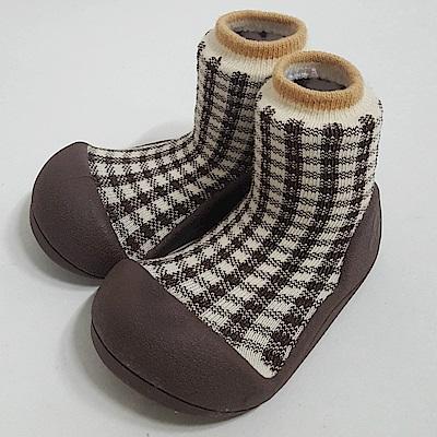 韓國Attipas 快樂學步鞋A18CBR-褐色蘇格蘭