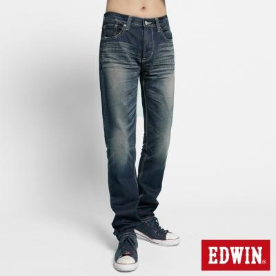 【EDWIN】復古合身 503 VINTAGE純棉AB牛仔褲-男款(中古藍)