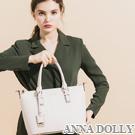 ANNA DOLLY 甜氛優雅Freda吊牌肩提包-小版 甜美米
