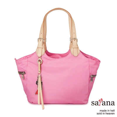 satana -929 Ladies 都會摩登 知性氣質托特包-凡爾賽玫瑰