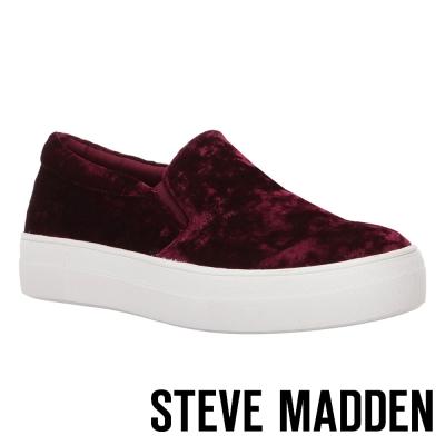 STEVE MADDEN-GEMA 厚底懶人鞋-酒紅