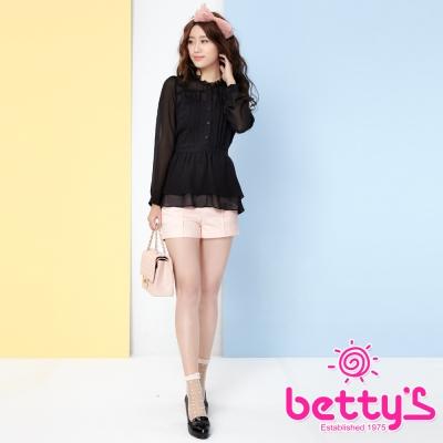 betty-s貝蒂思-褲身釦飾側身拉鏈短褲-粉紅