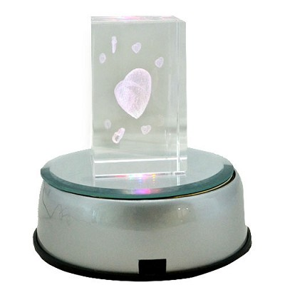 iSFun 七彩旋轉 水晶玻璃擺飾 六款可選