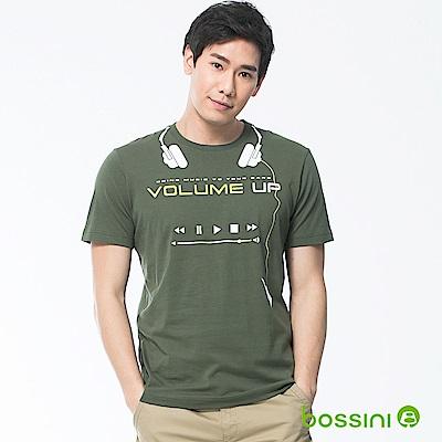 bossini男裝-印花短袖T恤19軍綠
