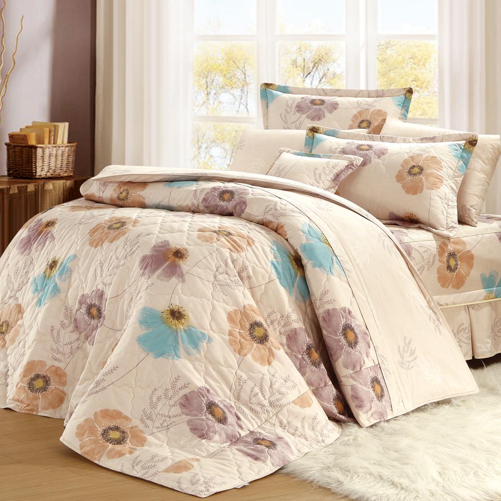 法國MONTAGUT - 綻放花鄉 - 雙人六件式鋪棉床罩組