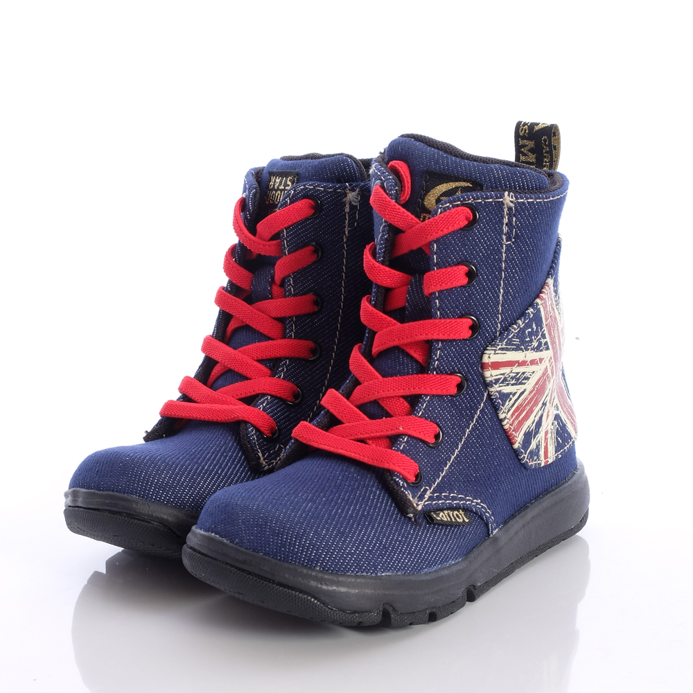 日本Carrot機能童鞋-英倫風牛仔靴款-2097M5(中小童段)HN