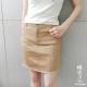 糖罐子-割破毛邊口袋短裙(共二色)