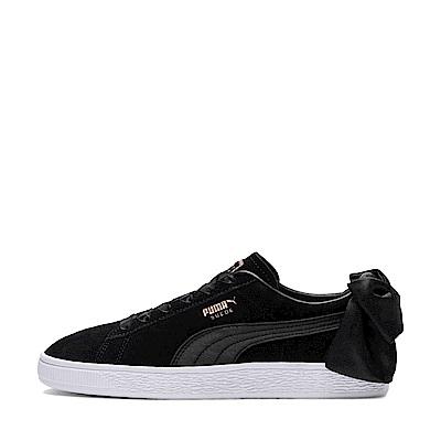 PUMA-SuedeBowWns女復古運動鞋-黑色