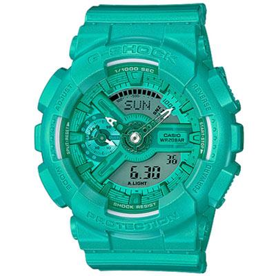 G-SHOCK 時尚貴婦摩登雙顯錶(GMA-S110VC-3A)-鮮綠