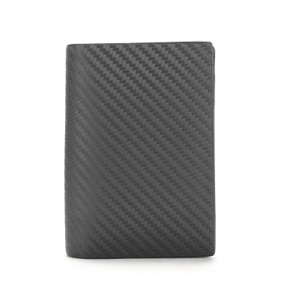 dunhill 經典Chassis碳纖維皮革證件名片夾-深藍