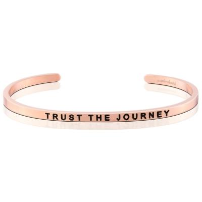 MANTRABAND Trust the Journey 玫瑰金手環 讓我的人生旅程變精采