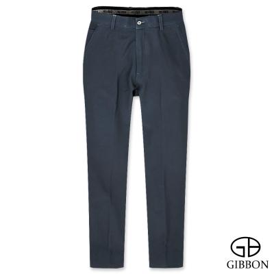 GIBBON 彈力防寒刷毛平口長褲‧藍色30-42