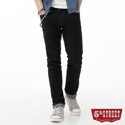 5th-STREET-街霸合身窄直筒牛仔褲-男-原藍色