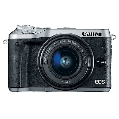 CANON EOS M6+15-45mm IS STM 單鏡組*(平輸中文)-銀色