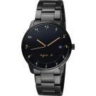 agnes b. 法國時尚藝術腕錶(BS9003J1)-黑/38mm