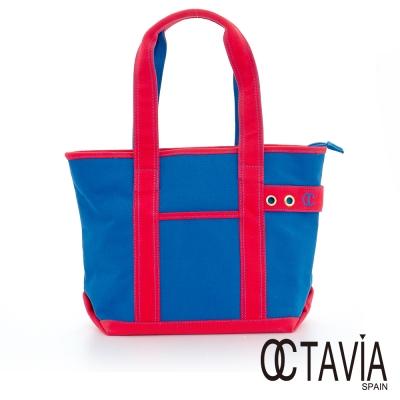 OCTAVIA 8 - EASY系列 雙彩帆布 SUPER TOTE包 - Super藍