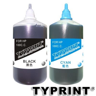 TY 『HP專用』 連續供墨補充墨水100CC (黑+藍)