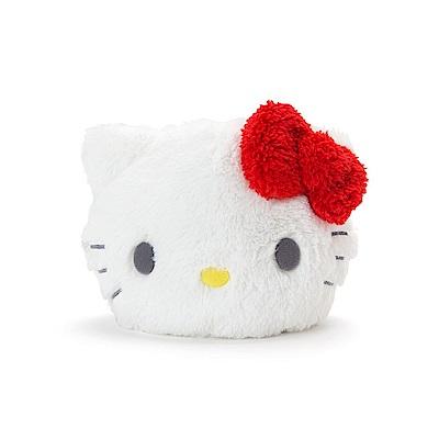 Sanrio HELLO KITTY夏日家居系列大臉造型絨毛化妝包