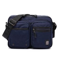 PLAYBOY- Navy Rabbit 湛藍海洋系列 雙口袋斜背包-湛藍
