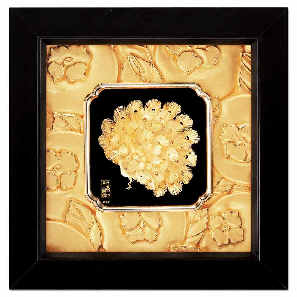 My Gifts-立體金箔畫-富貴吉祥(如意系列19x19cm)