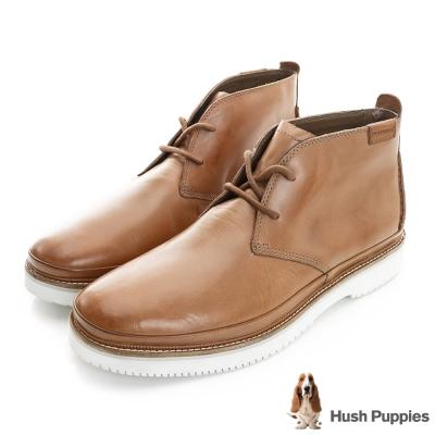 Hush Puppies Fredd 率性工作靴-淺棕