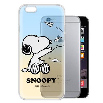 史努比/SNOOPY iPhone6s / 6 4.7吋 漸層彩繪軟式手機殼(紙...