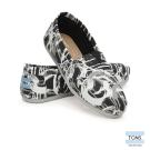TOMS 經典彩繪潑漆懶人鞋-女款(黑)