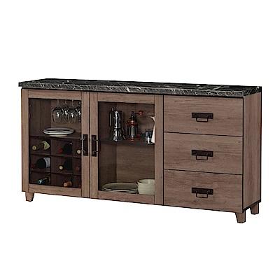 品家居 謝達爾5.2尺石面餐櫃下座-156.5x41.5x82cm免組