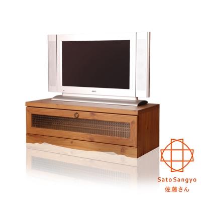 【Sato】PISTRO巴黎公寓視聽電視櫃‧幅90cm-DIY