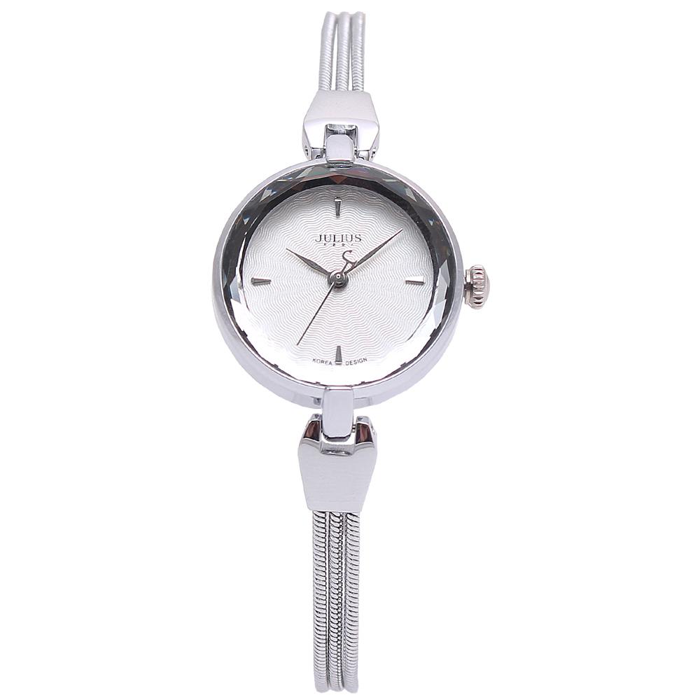 JULIUS聚利時艾莉兒的海螺貝殼面鍊飾腕錶-銀色25mm