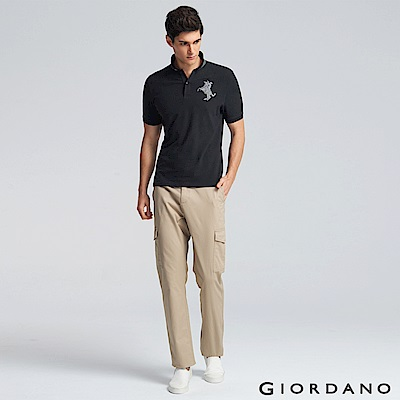 GIORDANO 男裝純棉多口袋工作褲/卡其褲-14 陶器卡其