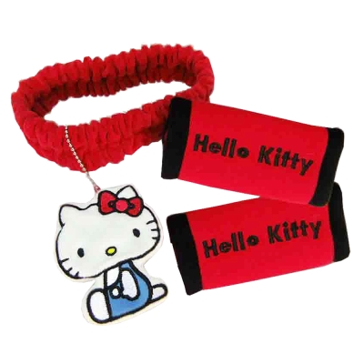 HELLO KITTY 兜風紅系列-後照鏡套+把手套