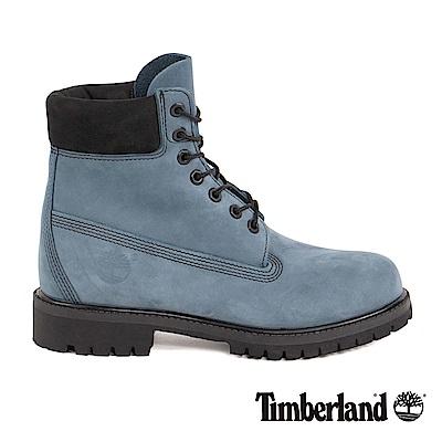 Timberland 男款中藍色絨面6吋靴