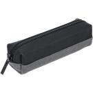 MONDAINE 瑞士國鐵牛皮帆布筆袋-黑x灰