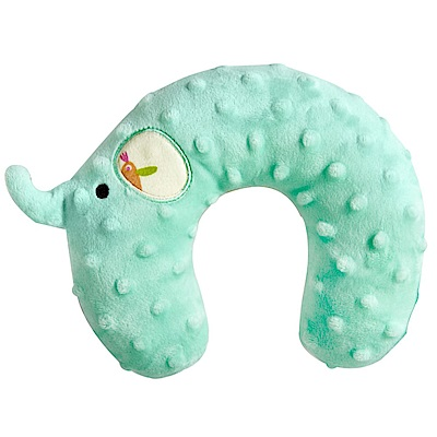 nac nac 魔豆旅行嬰兒護頸枕-大象(蒂芬妮藍)