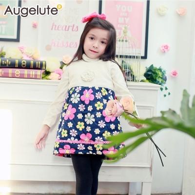 baby童衣 洋裝 加厚花朵造型層次背心蕾絲裙 47139