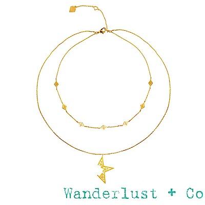 Wanderlust+Co 澳洲品牌 金色星星項鍊 雙層繁星項鍊 NOVA GOLD