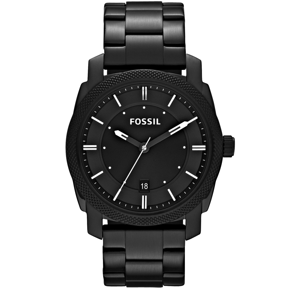 FOSSIL 爵士都會時尚腕錶-IP黑/42mm