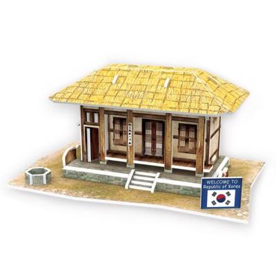 世界之窗 3D立體拼圖 韓國-茅草屋 3D World Style