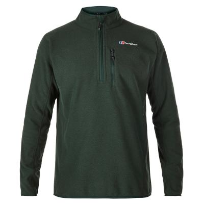 【Berghaus 貝豪斯】男款半襟刷毛保暖上衣H51M02綠
