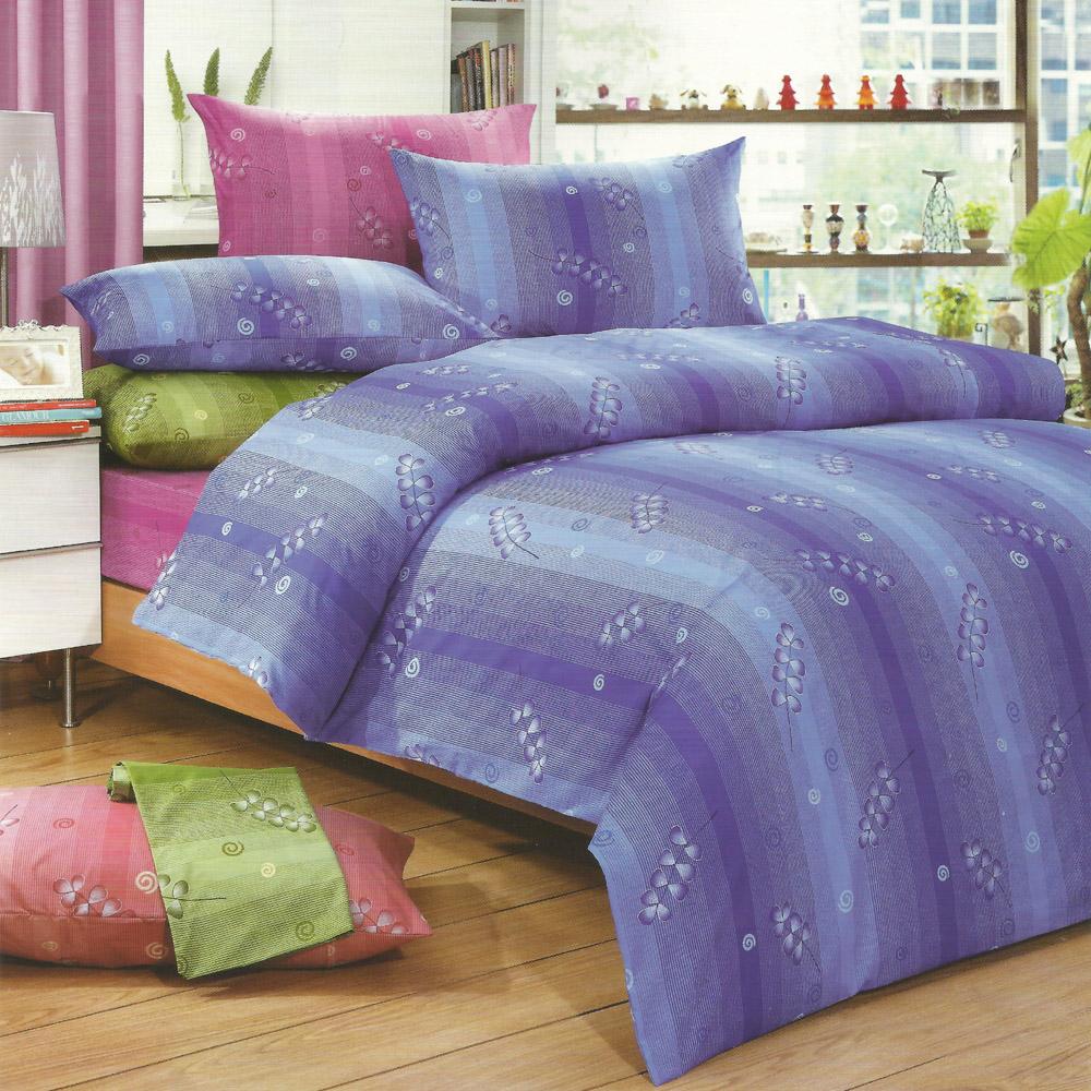 艾莉絲-貝倫 寄羽相思 高級混紡棉 雙人鋪棉兩用被床包四件組