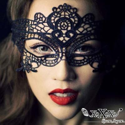 面罩 性感鏤空蕾絲面罩-女皇 買1送1 XOXOXO