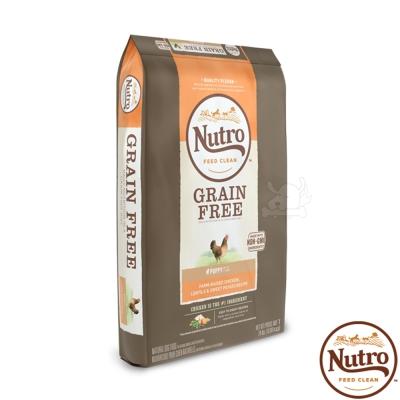 【Nutro 美士】低敏無穀 幼犬糧(農場鮮雞+扁豆+地瓜)4磅 X1包