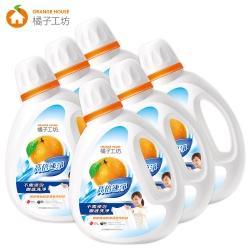 橘子工坊 天然濃縮洗衣精2200ml*6瓶-高倍速淨/箱